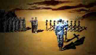Military art by Military Artist Todd Krasovetz Titled %22Angels of the Sand%22