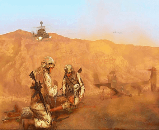 CASEVAC by Military Art by Todd Krasovetz