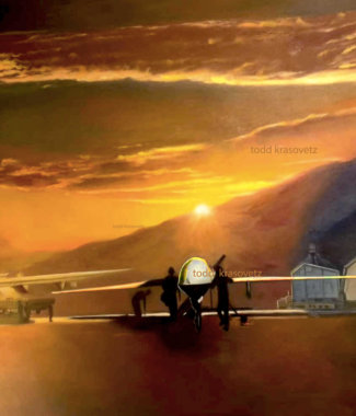 Military Art MQ 9 Reaper USAF Original Oil Painting Watermarked