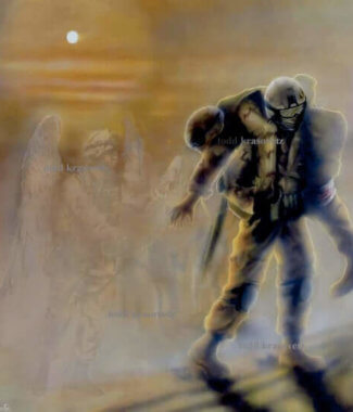 Military art for sale titled savior in a storm by militray artist todd krasovetz watermarked