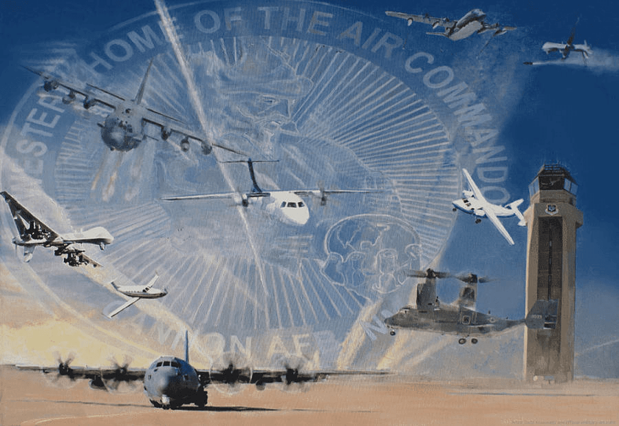 Air Force Art Superior Support Oil Painting by Todd Krasovetz