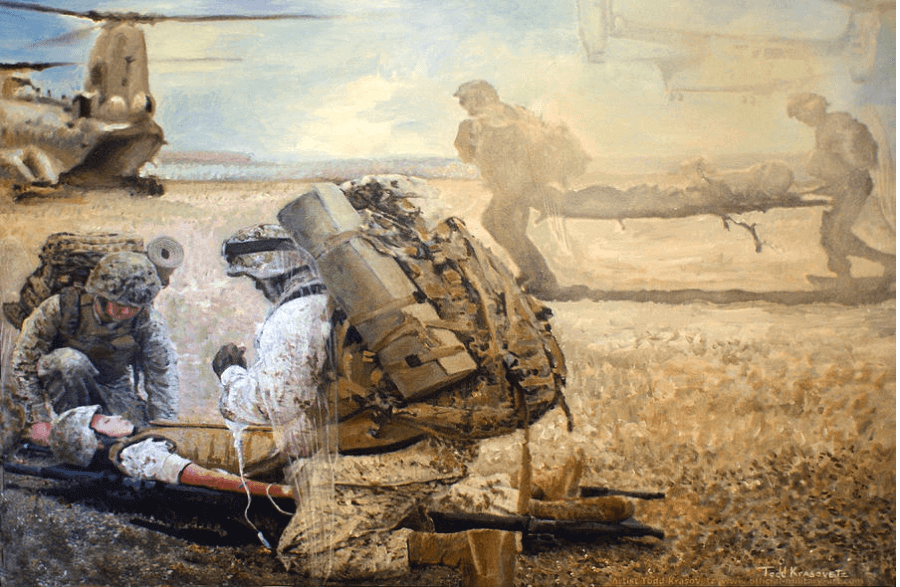Military Art Hidden Wings Painting By Todd Krasovetz