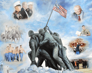 Marine Corps Art Academy Commemoration Oil Painting By Todd Krasovetz