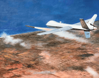 """MQ9 Reaper over Sirte"" only 200 prints available call 1.619.490.9985 to order!"