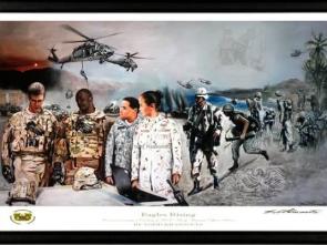 Black Framed Print USAWOA _Official Military Art Artist Todd Krasovetz