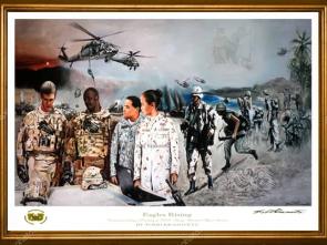 Gold Framed Print USAWOA _Official Military Art Artist Todd Krasovetz