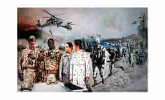 Army Warrant Officer art Eagles Rising
