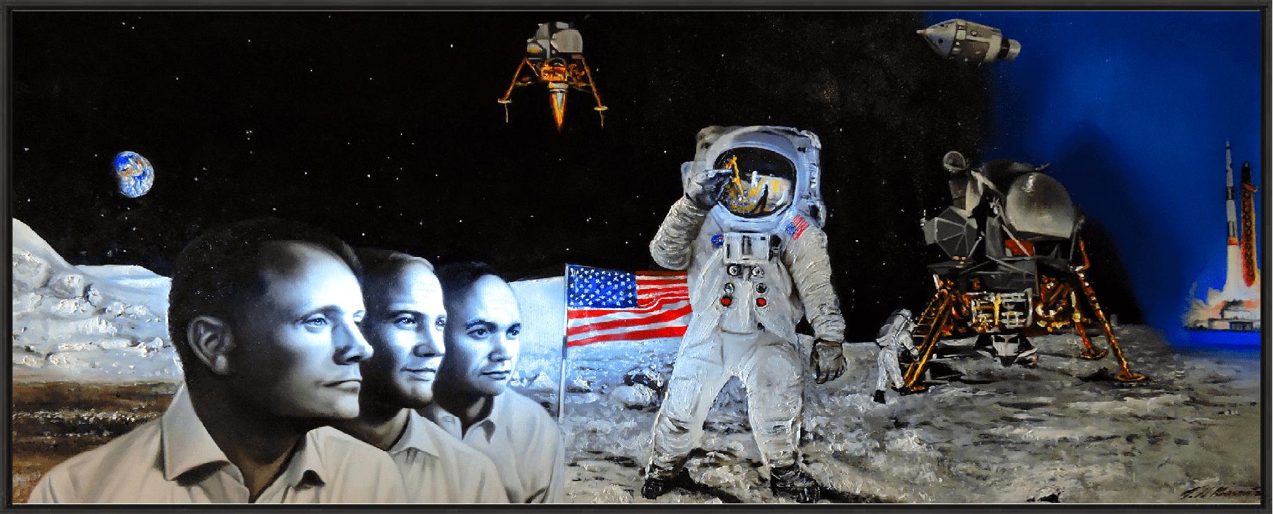 Apollo 11 Collectible Framed Giclee Print 20 x 24
