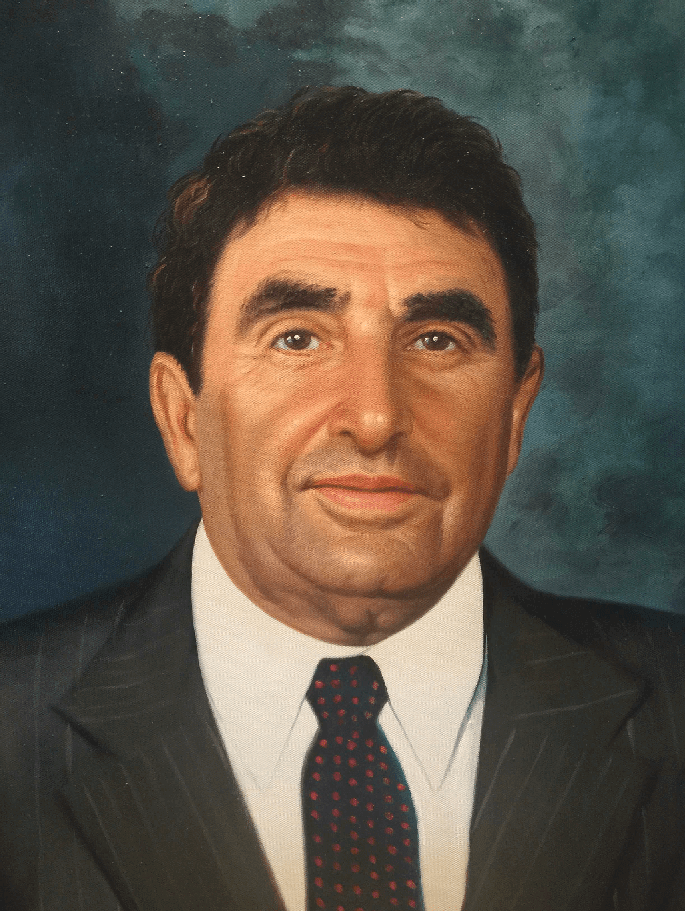 Alex Schure New York Institute of Technology (NYIT) Presidential Portrait Oil Painting by Todd Krasovetz