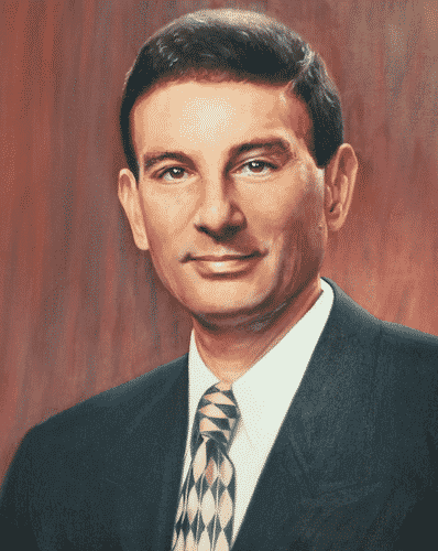 New York Institute of Technology President Matt Schure oil portrait by Todd Krasovetz