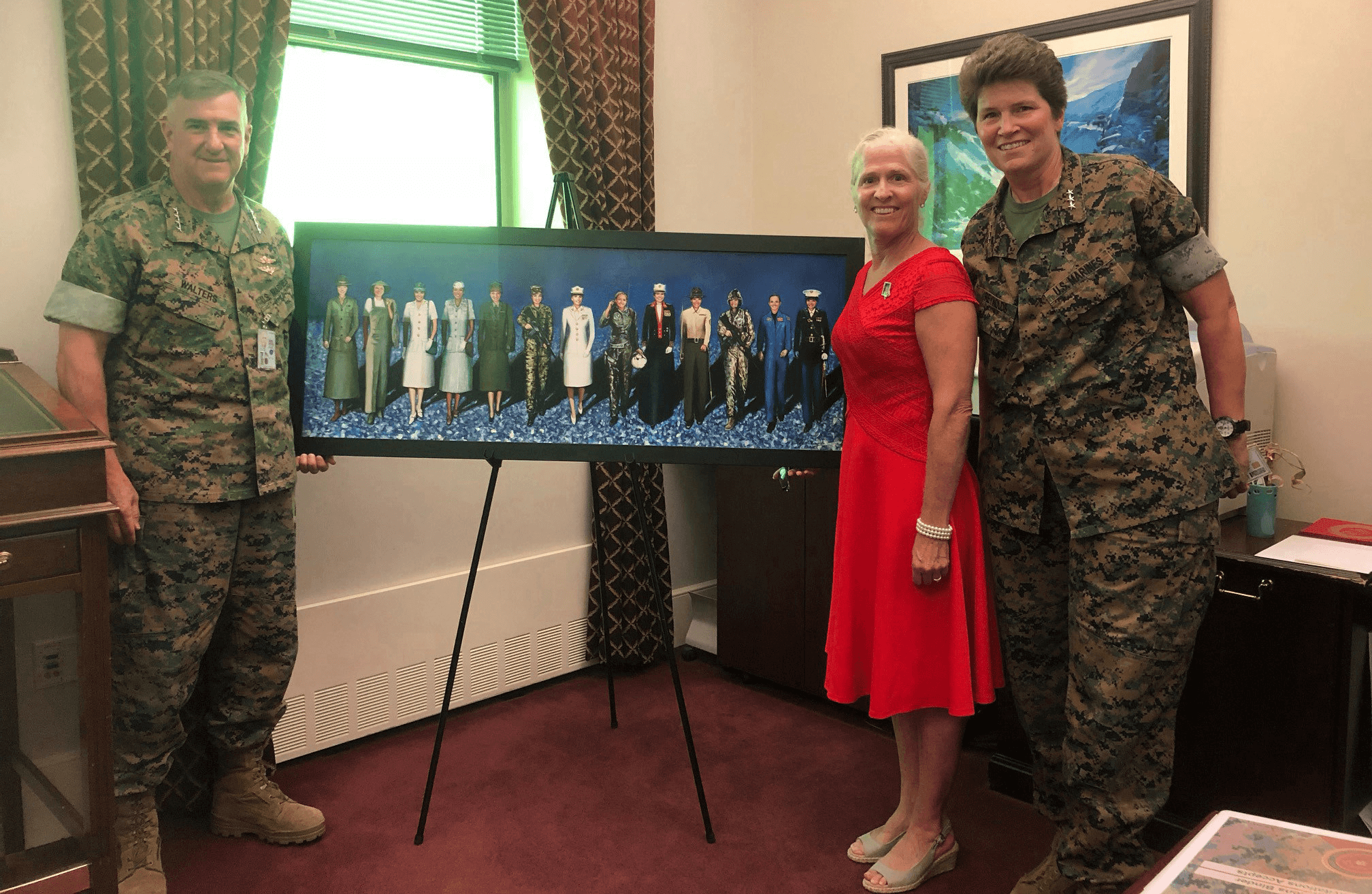 """VETERANS DAY: """"Semper Fi Sisters"""" painting honors Marine Corp women Military Portraits by Todd Krasovetz"""